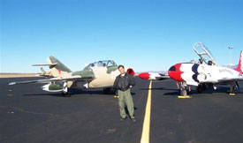 T-33 Thunderbird flight training at JetWarbird in Santa Fe New Mexico