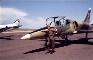 Fouga Magister flight training at JetWarbird in Santa Fe New Mexico